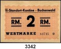 P A P I E R G E L D,L A G E R G E L D BuchenwaldSS-Standort-Kantine.  2 RM o.D.  Grabowski Bu 11.