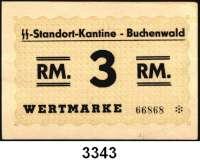 P A P I E R G E L D,L A G E R G E L D BuchenwaldSS-Standort-Kantine.  3 RM o.D.  Grabowski Bu 12.