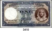 P A P I E R G E L D,Besatzungsausgaben des II. Weltkrieges Ägypten - Deutsche Invasion im II. WeltkriegNational Bank of Egypt 1942.  50 Piaster 7.8.1942.  1 Pfund 13.7.1942, 14.7.1942(2). Grabowski/Huschka/Schamberg EG 5 b, 6 a, b.  Pick 21 und 22.  LOT 4 Scheine.