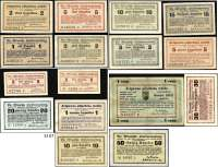 P A P I E R G E L D,Ausländische Geldscheine unter deutscher Besatzung Lettland - Deutsche Besatzung im I. WeltkriegMitauische Stadtverwaltung 1915-1918.  5(2) Pfennig, 1(2), 2(2), 3, 5(2), 10(2), 15, 20, 30, 50 Kopeken und 1 Rubel 20.9.1915.  Grabowski/Huschka/Schamberg LE 33 a, b, 35 a(2), 36 a, b, 37, 38 a(2), 39(2), 40, 41, 42, 43, 44 e.  LOT 16 Scheine.