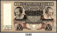 P A P I E R G E L D,Besatzungsausgaben des II. Weltkrieges NiederlandeDe Nederlandsche Bank 1940-1945.   50 Gulden 14.3.1941.  Grabowski/Huschka/Schamberg NL 7.  Pick 58.