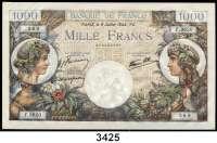 P A P I E R G E L D,Besatzungsausgaben des II. Weltkrieges FrankreichBanque de France.  1000 Francs 6.7.1944.  Grabowski/Huschka/Schamberg FR 17 j.  Pick 96.
