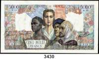 P A P I E R G E L D,Besatzungsausgaben des II. Weltkrieges FrankreichBanque de France.  5000 Francs 5.3.1942.  Grabowski/Huschka/Schamberg FR 25 a.  Pick 103.