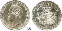 Deutsche Münzen und Medaillen,Anhalt - Dessau Leopold Friedrich 1817 - 1871Vereinstaler 1863 A, Berlin.  Vereinigungstaler.  Kahnt 11.  Thun 11.  AKS 35.  Jg. 77.  Dav. 510.
