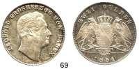 Deutsche Münzen und Medaillen,Baden - Durlach Karl Leopold Friedrich 1830 - 1852Doppelgulden 1851, Karlsruhe.  Kahnt 22.  Thun 27.  AKS 91.  Jg. 63.  Dav. 527.