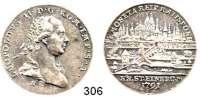 Deutsche Münzen und Medaillen,Regensburg, Stadt Leopold II. 1790 - 17921/2 Taler 1791.  13,98 g.  Beckenbauer 7209.