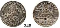 Deutsche Münzen und Medaillen,Sachsen - Gotha - Altenburg Friedrich II. 1691 - 17321/8 Taler 1717, Gotha.  3,69 g.  Reformationsjubiläum.  Slg. Opitz 2628.  Mb. 3176