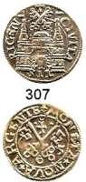 Deutsche Münzen und Medaillen,Riga, Stadt Freie Stadt 1562 - 1581Ferding 1565.  2,76 g.  Kruggel/Baublyte 6.2.1.