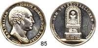 Deutsche Münzen und Medaillen,Bayern Maximilian I. Josef (1799) 1806 - 1825Silbermedaille 1828 (Neuss).  Auf die Errichtung seines Denkmals in Kreuth.  Beierlein 2549.  33,4 mm.  12,67 g.