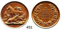 M E D A I L L E N,Landwirtschaft Greifswald,  Bronzemedaille 1898 (Oertel, Berlin).  Für Landwirtschaftliche Leistungen.  35,3 mm.  20,86 g.