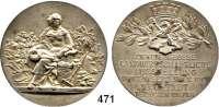M E D A I L L E N,Landwirtschaft Neustadt/Herzogtum Coburg,  Silbermedaille 1913 (Lauer, Nürnberg).  Zweite Große landwirtschaftliche Ausstellung.  Rand : SILBER 990.  50,3 mm.  49,66 g.