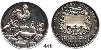 M E D A I L L E N,Landwirtschaft Berlin-Weissensee,  Silbermedaille o.J. (Lauer, Nürnberg).  Preismedaille.  Geflügelzucht Verein.  40,28 mm.  25,54 g.  Rand : SILBER 990.