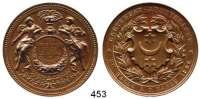 M E D A I L L E N,Landwirtschaft Halle a. d. Saale,  Bronzemedaille 1886.  Gartenbau-Ausstellung.  Für verdienstvolle Leistung im Gartenbau.  42,6 mm.  29,81 g.