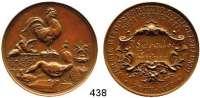 M E D A I L L E N,Landwirtschaft Berlin,  Bronzemedaille o.J. (Lauer).  Verein Rixdorf-Britzer Geflügelfreunde.  Dem Verdienste.  Gravur :