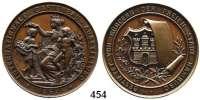 M E D A I L L E N,Landwirtschaft Hamburg,  Bronzemedaille 1869 (H. Lorenz).  Internationale Gartenbau-Ausstellung.  Gestiftet von Bürgern der Freien Stadt Hamburg.  45 mm.  47,95 g.
