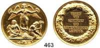 M E D A I L L E N,Landwirtschaft Leipzig,  Vergoldete Silbermedaille o.J. (um 1850).  Verein von Gärtnern und Gartenfreunden.  Gebauer o.J.-V 12.1.  34,14 mm.  16,95 g.  Im Etui.