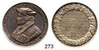 Deutsche Münzen und Medaillen,Hamburg, Stadt Freie und Hansestadt seit 1815Silbermedaille 1829 (C. Pfeuffer).  300 Jahrfeier des Johanneums.  Brustbild J. Bugenhagen n. l. / 8 Textzeilen im Eichenkranz.  36,8 mm.  14,51 g.  Sommer P 31.