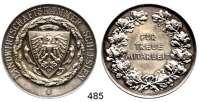 M E D A I L L E N,Landwirtschaft Schlesien,  Versilberte Medaille o.J. (G. Loos).  Landwirtschaftskammer Schlesien.