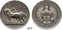 M E D A I L L E N,Landwirtschaft Sachsen,  Versilberte Bronzemedaille o.J.  Landwirtschaftskammer für die Provinz Sachsen.  Medaille für züchterische Leistungen.  42,7 mm.  35,24 g.