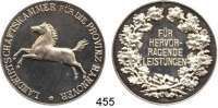 M E D A I L L E N,Landwirtschaft Hannover,  Silbermedaille o.J.  Landwirtschaftskammer für die Provinz Hannover.  Medaille für hervorragende Leistungen.  40,2 mm.  25,42 g.  Rand : SILBER 0.990.