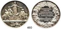 M E D A I L L E N,Landwirtschaft Königsberg,  Silbermedaille 1863 (G. Loos).  Ehrenpreis der 24. Versammlung Deutscher Land- und Forstwirte.  42,3 mm.  28,24 g.