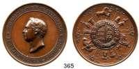 Deutsche Münzen und Medaillen,Württemberg, Königreich Wilhelm I. 1816 - 1864Bronzemedaille o.J. (Dietelbach).  Für landwirtschaftliche Verdienste.  Kopf n. l. / Wappen umgeben von landwirtschaftlichen Darstellungen.  45,3 mm.  53,75 g.