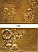 M E D A I L L E N,Medailleur Heinrich Kautsch (1859 - 1943) 1916.  Bronzeplakette.  Kaiser Franz Josef I. von Österreich.  Auf seine Beisetzung, gewidmet vom k. u. k. Kriegsfürsorgeamt und schwarz-gelbem Kreuz.  75 x 58 mm.  115,4 g.