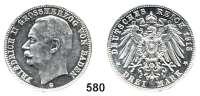 R E I C H S M Ü N Z E N,Baden, Großherzogtum Friedrich II. 1907 - 1918 PROBE.  3 Mark 1915.  Kupfer, aluminiumplattiert.  33 mm.  5,79 g.  Randschrift
