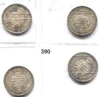 Deutsche Münzen und Medaillen,Sachsen Johann 1854 - 1873 1/6 Taler 1863(2) und 1871(2).  AKS 142.  Jg. 113.  LOT 4 Stück.