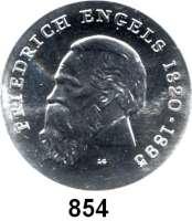 Deutsche Demokratische Republik   PP-Patina !!!!!, 20 Mark 1970.  Engels.  Aluminiumabschlag der Vorderseite.