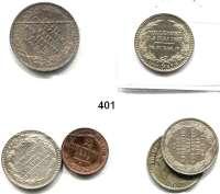 Deutsche Münzen und Medaillen,Sachsen LOTS     LOTS     LOTS 2 Pfennig 1864; 1/6 Taler 1827(3)