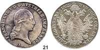 Österreich - Ungarn,Habsburg - Lothringen Franz I. (1792) 1806 - 1835Konventionstaler 1822 A, Wien.  Frühwald 163.  Kahnt 338.  Jl. 190.  Dav. 7.