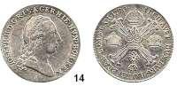 Römisch Deutsches Reich,Haus Habsburg Josef II. 1765 - 1790 1/2 Kronentaler 1790 A, Wien.  14,68 g.  Herinek 46.