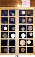 Österreich - Ungarn,Habsburg - Lothringen Franz Josef I. 1848 - 1916LOT von 21 meist verschiedenen Kleinmünzen von 1 Kreuzer bis 1/4 Gulden.  Darunter 6 Silbermünzen.