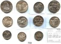 R E I C H S M Ü N Z E N,L O T S     L O T S     L O T S  Preußen,  2 Mark 1901, 1913(2); 3 Mark 1909, 1912, 1913(2), 1914; 5 Mark 1901, 1913 und 1914.  Jaeger 103(2), 105, 106, 109, 110, 111, 112, 113, 114(2).  LOT 11 Stück.
