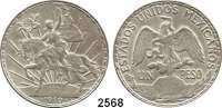 AUSLÄNDISCHE MÜNZEN,Mexiko Estados Unidos Mexicanos 1 Peso 1910.  100. Jahrestag des Mexikanischen Unabhängigkeitskrieges