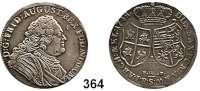 Deutsche Münzen und Medaillen,Sachsen Friedrich August II. 1733 - 1763 1/3 Taler 1748 FWôF, Dresden.  6,82 g.  Kahnt 554.