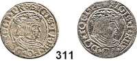 Deutsche Münzen und Medaillen,Danzig, Stadt Sigismund I. 1506 - 1548 Groschen 1532 und 1534.  Dutkowski/Suchanek 57 II und 57 IVa.  LOT 2 Stück.