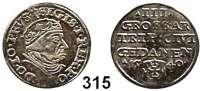 Deutsche Münzen und Medaillen,Danzig, Stadt Sigismund I. 1506 - 1548 3 Groschen 1540.  2,52 g.  Dutkowski/Suchanek 73 a.