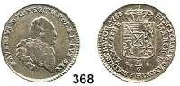 Deutsche Münzen und Medaillen,Sachsen Prinz Xaver 1763 - 1768 1/6 Taler 1768 EDC, Dresden.  5,30 g.  Kahnt 1025.