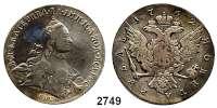 AUSLÄNDISCHE MÜNZEN,Russland Katharina II. 1762 - 1796 Rubel 1762, St. Petersburg.  22,94 g.  Bitkin 182.  Craig 67.2.