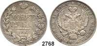 AUSLÄNDISCHE MÜNZEN,Russland Nikolaus I. 1825 - 1855 Rubel 1843, St. Petersburg.  Bitkin 202.  Craig 168.1.