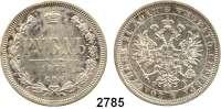 AUSLÄNDISCHE MÜNZEN,Russland Alexander II. 1855 - 1881 Rubel 1877, St. Petersburg.  Bitkin 90.  Y. 25.