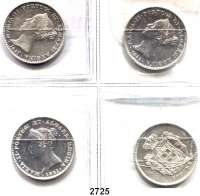 AUSLÄNDISCHE MÜNZEN,Portugal Maria II. 1834 - 1853 500 Reis 1841, 1842, 1846 und 1851.  Kahnt/Schön 69.  KM 471.  LOT 4 Stück.