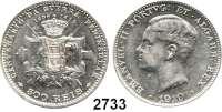 AUSLÄNDISCHE MÜNZEN,Portugal Manuel II. 1908 - 1910 500 Reis 1910.  100. Jahrestag des Krieges gegen Napoleon I.  Schön 14.  KM 556.