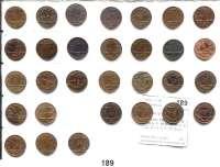 Österreich - Ungarn,Habsburg - Lothringen Franz Josef I. 1848 - 19161 Kreuzer 1858 A, B(2), M, V; 59 A, E, M(3), V; 60 A, B, V(2); 61 A, B, E; 62 B(vz); 73 A; 78(2); 79(3); 81(2); 85(2) und 1891.  Frühwald 1644/1669.  LOT 30 Stück.