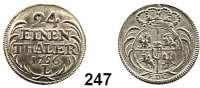 Deutsche Münzen und Medaillen,Preußen, Königreich Friedrich II. der Große 1740 - 1786 Preußische Münzen im Namen Friedrich August II. von Sachsen.  1/24 Taler 1756 EDC/L, Leipzig oder Dresden.  2,10 g.  Kluge K 11.3.  Olding 475 a.  Kahnt 589.