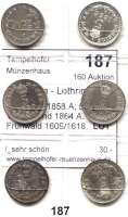 Österreich - Ungarn,Habsburg - Lothringen Franz Josef I. 1848 - 19165 Kreuzer 1858 A; 59 A, M, V; 63 A und 1864 A.  Frühwald 1609/1618.  LOT 6 Stück.