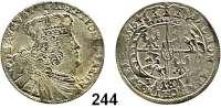 Deutsche Münzen und Medaillen,Preußen, Königreich Friedrich II. der Große 1740 - 1786 Preußische Münzen im Namen Friedrich August II. von Sachsen.  18 Gröscher  1754 EC, Leipzig o. a..  6,12 g.  Kluge K 19.2.  Olding 479.  Kahnt 687.