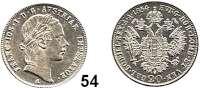 Österreich - Ungarn,Habsburg - Lothringen Franz Josef I. 1848 - 191620 Kreuzer 1854 A, Wien.  Frühwald 1567.